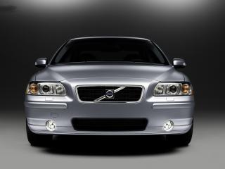 обои Volvo S60 серого цвета крупный план вид спереди фото