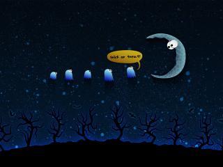 обои Ночь на хэллоуин фото