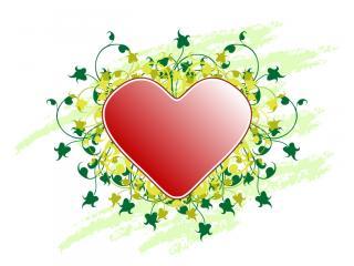 обои Нарисованное сердечко фото