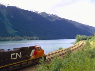 обои Поезд на скорости фото