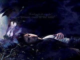 обои The Vampire Diaries. Ночь фото