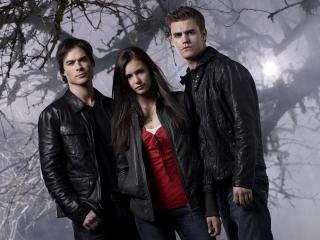 обои The Vampire Diaries. В лесу фото