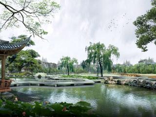 обои Ландшафтный дизайн пруда фото