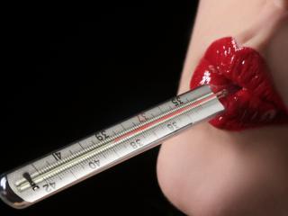 обои Измерение температуры в ротике фото