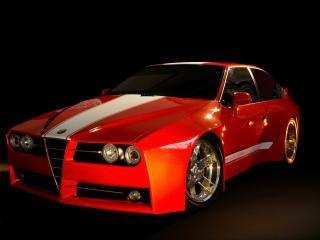 обои Racer X Design Alfa Romeo GTV Evoluzione Front And Side фото