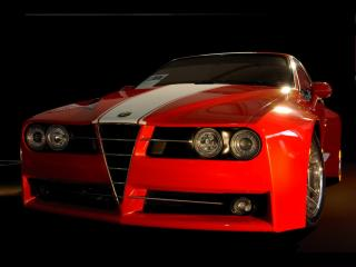 обои Racer X Design Alfa Romeo GTV Evoluzione Front Angle фото