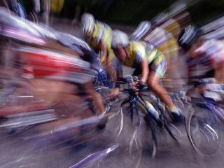 обои Много велогонщиков фото
