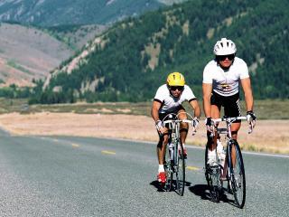 обои Два велосипедиста фото