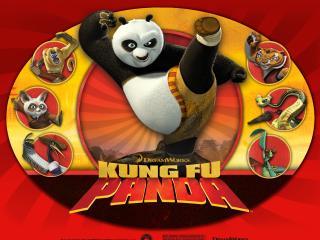 обои Панда,   удар с ноги фото