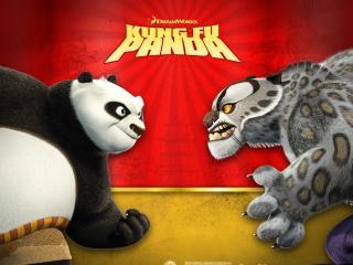 обои Панда против Тигры фото