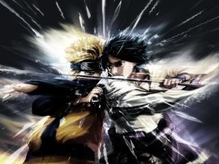 обои Naruto Sasuke Clash фото