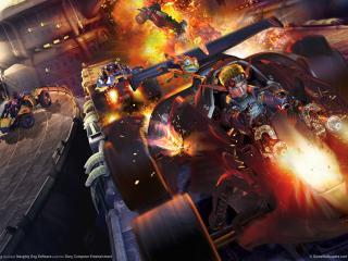 обои Jak x combat racing game фото
