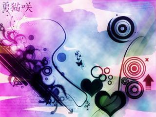 обои Абстрактный рисунок любви фото