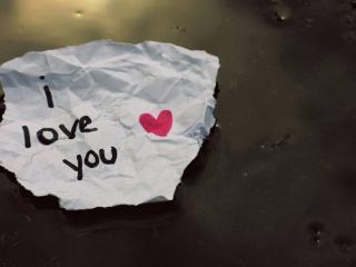 обои Признание на обрывке бумаги фото