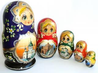 обои Русские матрешки фото