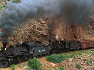 обои Cumbres and Toltec Steam Train фото