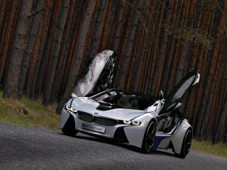 обои BMW EfficientDynamics Concept с отрытыми дверями фото