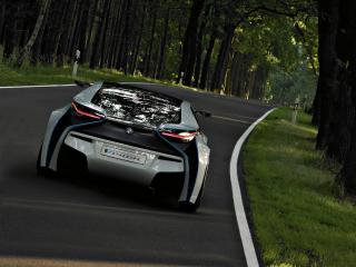 обои BMW EfficientDynamics Concept rear view фото