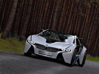 обои BMW EfficientDynamics Concept в лесу фото