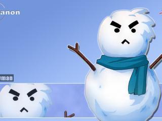 обои Злой снеговик фото