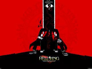 обои для рабочего стола: Хельсинг на троне
