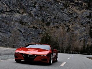 обои BMW-M1 Concept 2008 на фоне гор фото