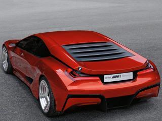 обои BMW-M1 Concept 2008 сздаи на чистейшем асфальте фото