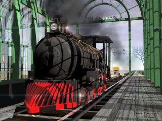 обои 3D  Train фото