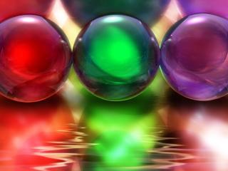 обои Glass Balls Color фото