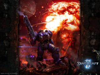 обои Starcraft 2 Human Trooper фото