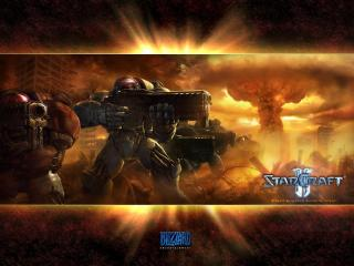 обои Starcraft 2 Terran Trooper фото