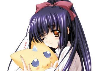 обои Анимационная девчушка с выразительными глазками фото