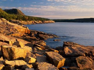 обои First Light,   Near Otter Cliffs,   Acadia National Park,   Maine фото