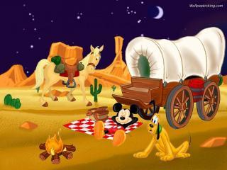 обои Микки Маус на отдыхе фото