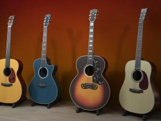 обои Четыре разные гитары фото