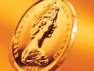 обои Золотая монетка фото