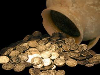 обои Кувшин монет фото