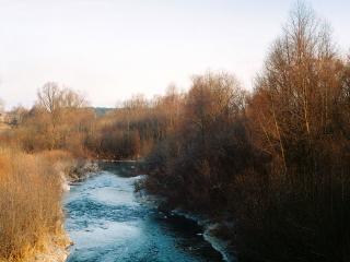 обои Речка осенью фото