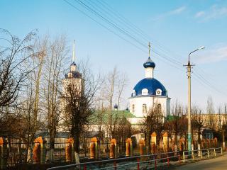 обои Городской пейзаж с церковью фото
