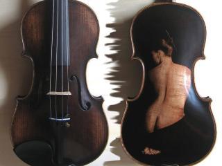 обои Скрипка с изображением девушки фото