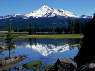 обои Broken Top Volcano and Sparks Lake,   Oregon фото
