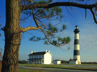 обои Bodie Island Lighthouse,   Cape Hatteras National Seashore,   North Carolina фото