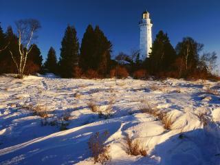 обои Cana Island Lighthouse on Lake Michigan,   Door County,   Wisconsin фото