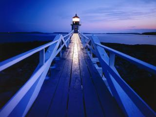 обои Marshall Point Light,   Port Clyde,   Maine фото