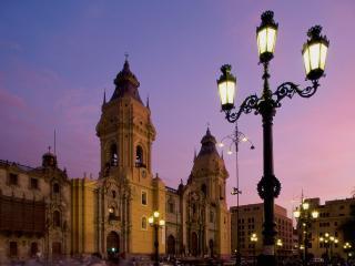 обои Cathedral Plaza de Armas,   Lima,   Peru фото