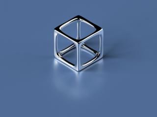 обои Simple 3D Cube фото