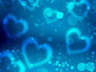 обои Синяя валентинка фото