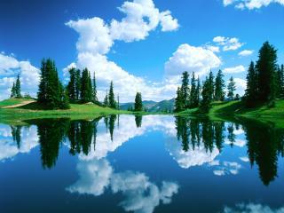 обои Альпийское озеро фото