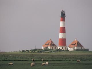 обои Lighthouse,   Westerhever,   Schleswig-Holstein,   Germany фото