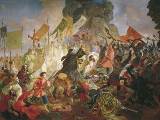 обои Осада Пскова польским королём Стефаном Баторием в 1581 году фото